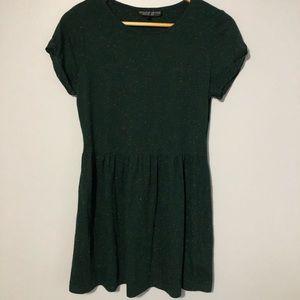 Topshop Forest Green Skater Dress